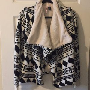 Love by Design Open Fleece Lined Cardigan